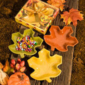 Autumn Magic Collection Leaf Candy Dishes