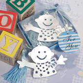 Baby Design Bookmark Favors Blue