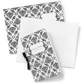 Black And White Damask Bulletin Kit