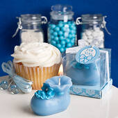 Blue Bootie Candles