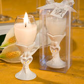 Bride And Groom Champagne Flute Candle Holders