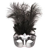 Shades of Gray Masquerade Mask
