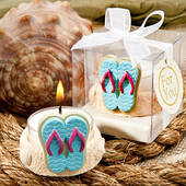Fun And Useful Beach Themed Candle Favors