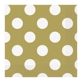 Gold Decorative Dots Beverage Napkins