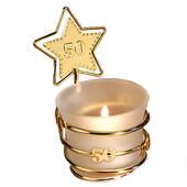 Gold Star 50th Anniversary Candle Holder