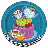 """Mad Hatter Tea Party Paper Plate - 7"""""""