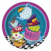 """Mad Hatter Tea Party Paper Plate - 8 5/8"""""""