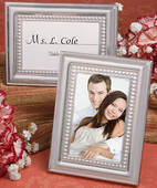 Matte Silver Metal Place Card Photo Frame