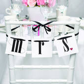 Mr and Mrs Chair Banners