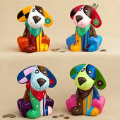 Multicolored Ceramic Doggy Banks