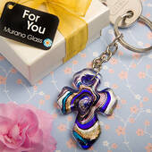 Murano Collection Cross Key Chain Favors