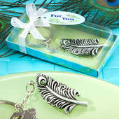 Peacock Feather Keychain Favors