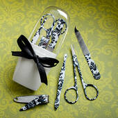 Pretty Damask Design Manicure Sets