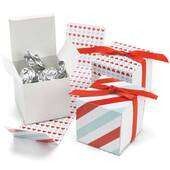 Red And Aqua Reversible Hearts Wrap Boxes