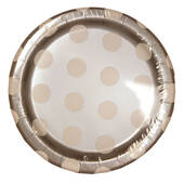 "Silver Decorative Dots 7"" Plates"