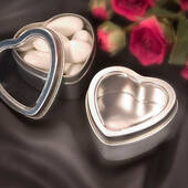 Silver Heart Shaped Mint Tin