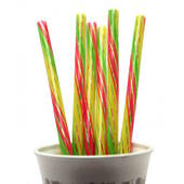 Striped Big Beverage Straws