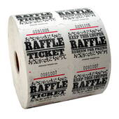 White Raffle Tickets