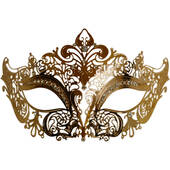 Gold Metal Venetian Half Mask