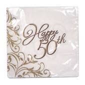 50th Anniversary Beverage Napkins
