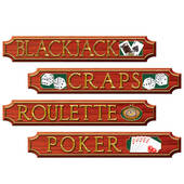 Casino Night Gambling Signs