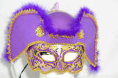 Men's Purple Pirate Half Mask