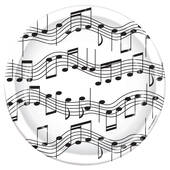 "Music Notes 9"" Paper Plates"