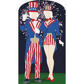 Aunt And Uncle Sam Standin Lifesized Standup