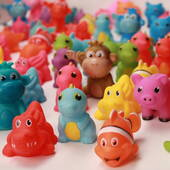 "2"" Assorted Rubber Animals"