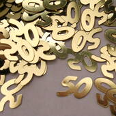 50th Anniversary Gold Confetti