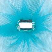 Aqua Tulle Flower Decoration
