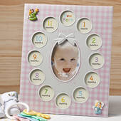 Baby Girl's First Year Collage Frames