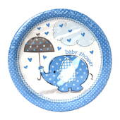 Baby Shower Boy Cake Plates - 7""
