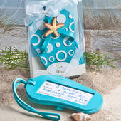 Blue Flip Flop Luggage Tag