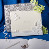 Butterfly Design Wedding Guest Book
