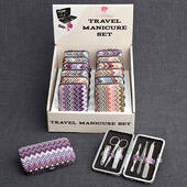 Chevron Design Travel Manicure Set
