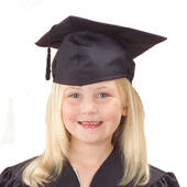 Child Size Black Graduation Cap