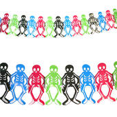 Day Of The Dead Skeleton Tissue Garland