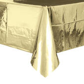 Foil Gold Plastic Table Cover - Rectangle