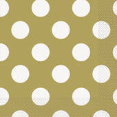 Gold Decorative Dots Lunch Napkins