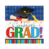 Graduation Stripes Beverage Napkins