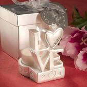 Love Design Candle Holder Favors