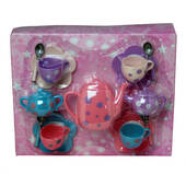 Plastic Polka Dot Tea Set