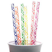 Polka Dot Big Beverage Straws