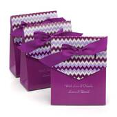 Purple Chevron Tent Favor Box