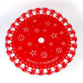 Red Christmas Tree Skirt