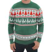 Reindeer Conga Line Ugly Sweater - Medium