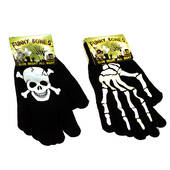 Skull and Crossbones Stretch Gloves