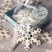 Snowflake Bookmark Favors