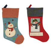 Terry Cloth Snowman Stocking